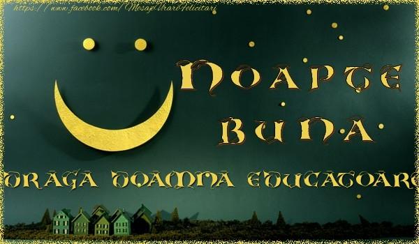 Felicitari de noapte buna pentru Educatoare - Noapte buna doamna educatoare