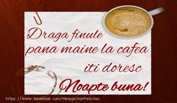 Felicitari de noapte buna pentru Fin - Draga finule pana maine la cafea iti doresc Noapte buna!