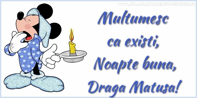 Felicitari de noapte buna pentru Matusa - Multumesc ca existi, Noapte buna, draga matusa
