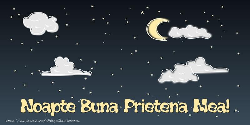 Felicitari de noapte buna pentru Prietena - Noapte Buna prietena mea!