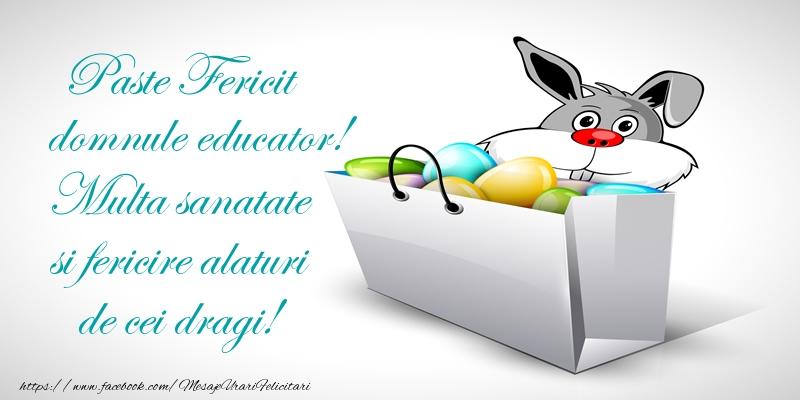 Felicitari de Paste pentru Educator - Paste Fericit domnule educator! Multa sanatate si fericire alaturi de cei dragi!