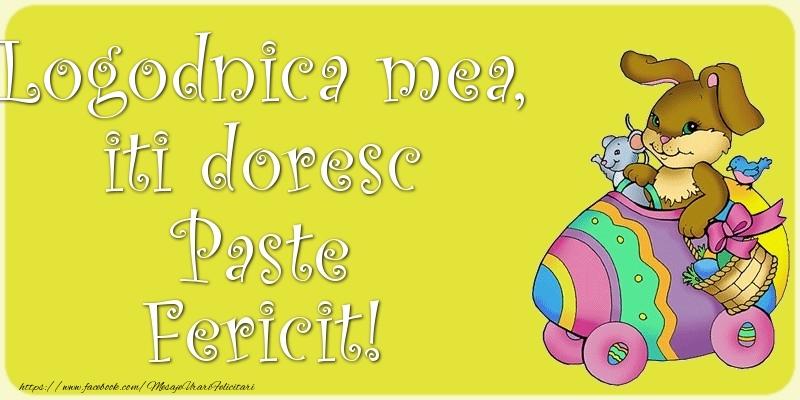 Felicitari de Paste pentru Logodnica - Logodnica mea, iti doresc Paste Fericit!