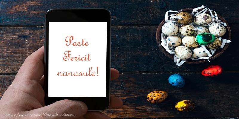 Felicitari de Paste pentru Nas - Paste Fericit nanasule!