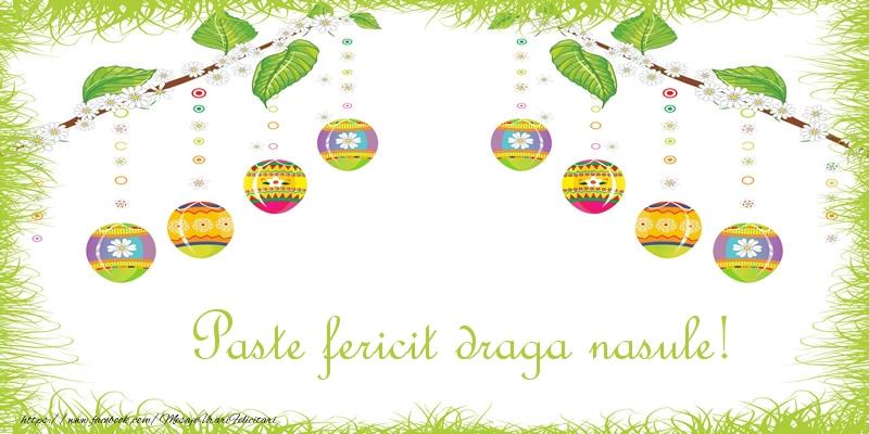Felicitari de Paste pentru Nas - Paste Fericit draga nasule!