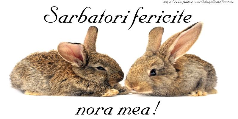 Felicitari de Paste pentru Nora - Sarbatori fericite nora mea!
