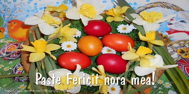 Felicitari de Paste pentru Nora - Paste Fericit nora mea!