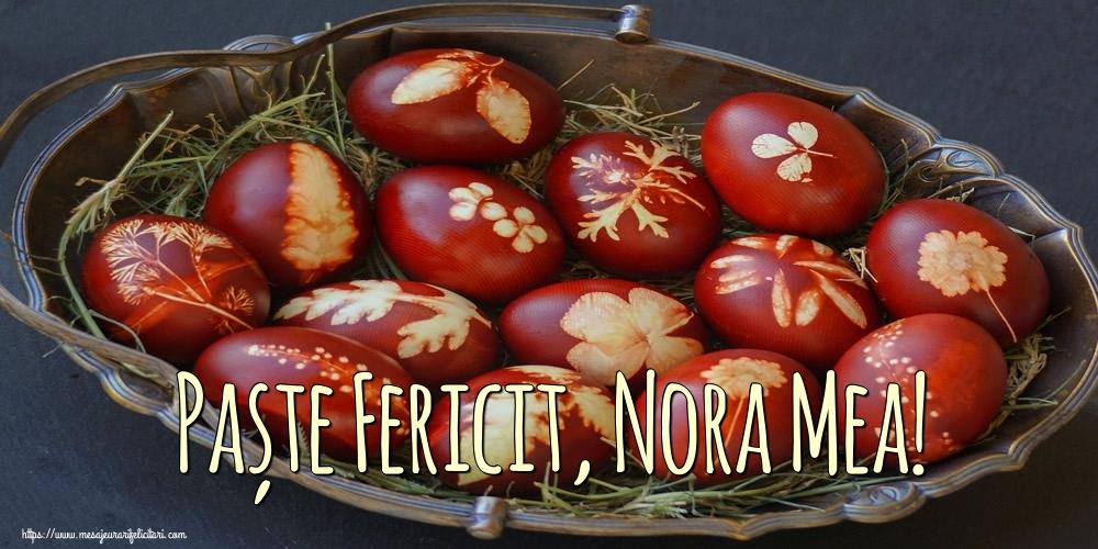Felicitari de Paste pentru Nora - Paște Fericit, nora mea!