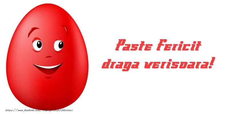 Felicitari de Paste pentru Verisoara - Paste Fericit draga verisoara!