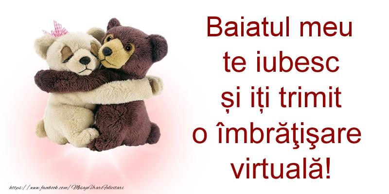 Felicitari de prietenie pentru Baiat - Baiatul meu te iubesc și iți trimit o îmbrăţişare virtuală!