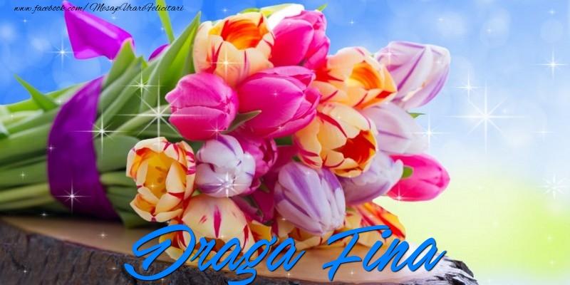 Felicitari de prietenie pentru Fina - Draga fina
