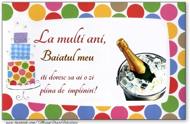 Felicitari de zi de nastere pentru Baiat - La multi ani, baiatul meu, iti doresc sa ai o zi plina de impliniri!