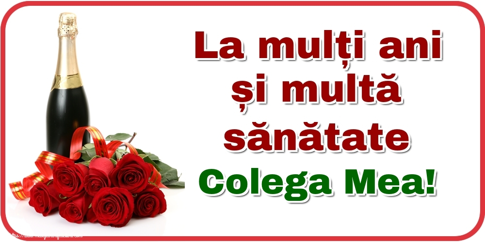 Felicitari de zi de nastere pentru Colega - La mulți ani și multă sănătate colega mea!