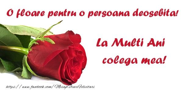 Felicitari de zi de nastere pentru Colega - O floare pentru o persoana deosebita! La multi ani colega mea!