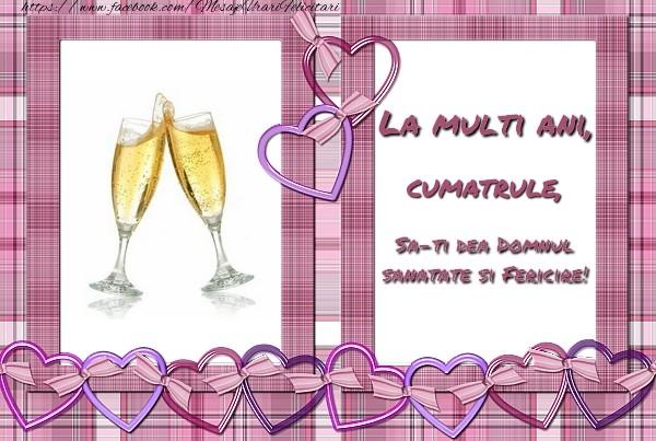 Felicitari de zi de nastere pentru Cumatru - La multi ani, cumatrule, sa-ti dea Domnul sanatate si fericire!