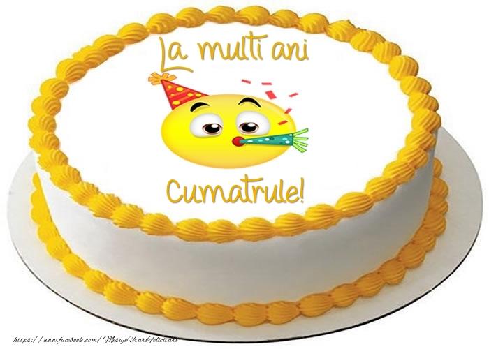 Felicitari de zi de nastere pentru Cumatru - Tort La multi ani cumatrule!