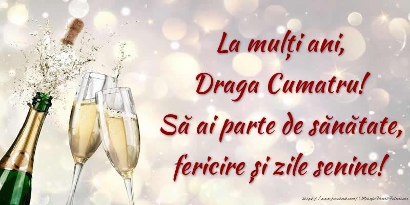 Felicitari de zi de nastere pentru Cumatru - La mulți ani, draga cumatru! Să ai parte de sănătate, fericire și zile senine!