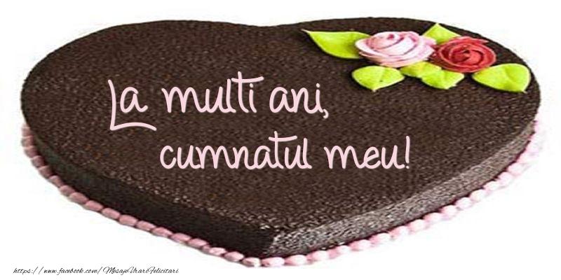 Felicitari de zi de nastere pentru Cumnat - La multi ani, cumnatul meu! Tort in forma de inima