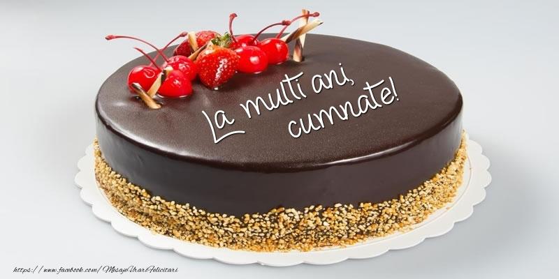 Felicitari de zi de nastere pentru Cumnat - Tort - La multi ani, cumnate!