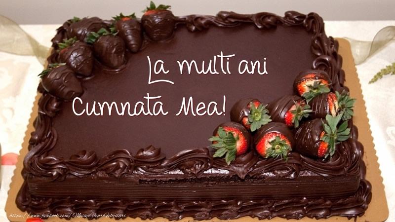 Felicitari de zi de nastere pentru Cumnata - La multi ani, cumnata mea! - Tort