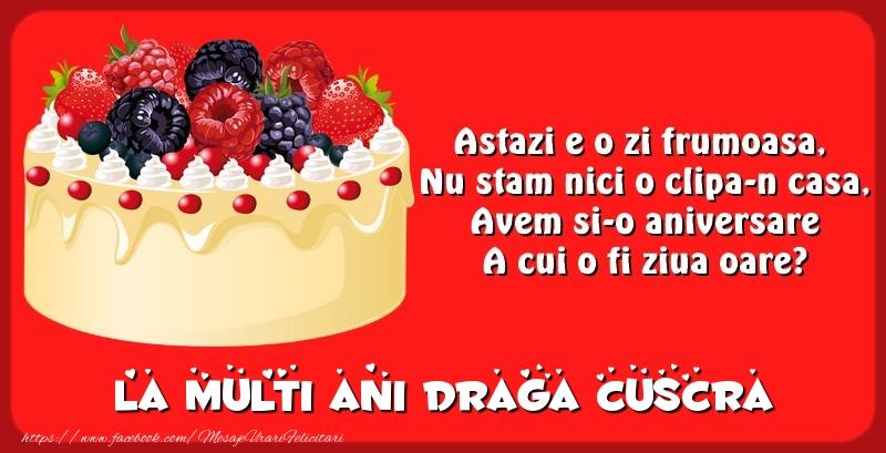 Felicitari de zi de nastere pentru Cuscra - La multi ani draga cuscra