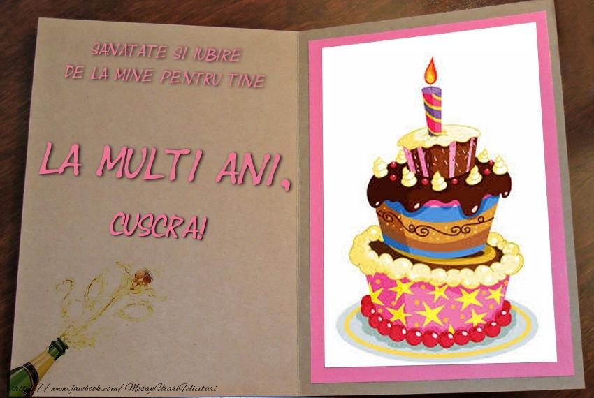 Felicitari de zi de nastere pentru Cuscra - La multi ani, cuscra!