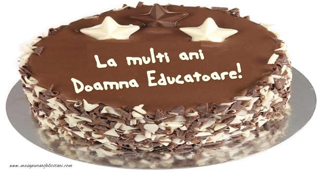 Felicitari de zi de nastere pentru Educatoare - Tort La multi ani doamna educatoare!