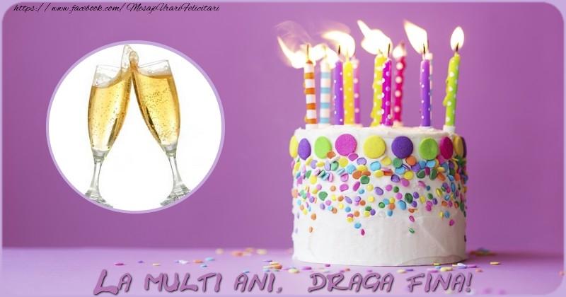 Felicitari de zi de nastere pentru Fina - La multi ani draga fina