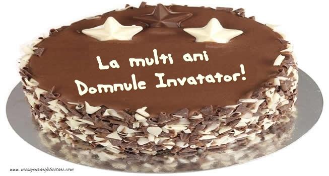 Felicitari de zi de nastere pentru Invatator - Tort La multi ani domnule invatator!