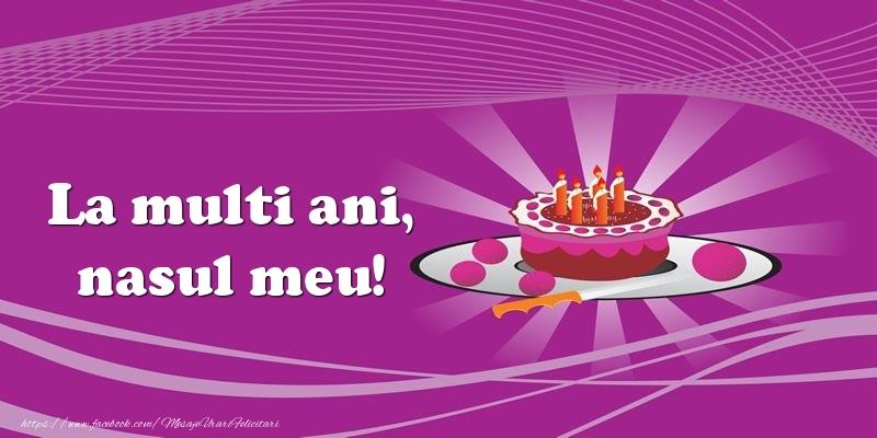 Felicitari de zi de nastere pentru Nas - La multi ani, nasul meu! Tort