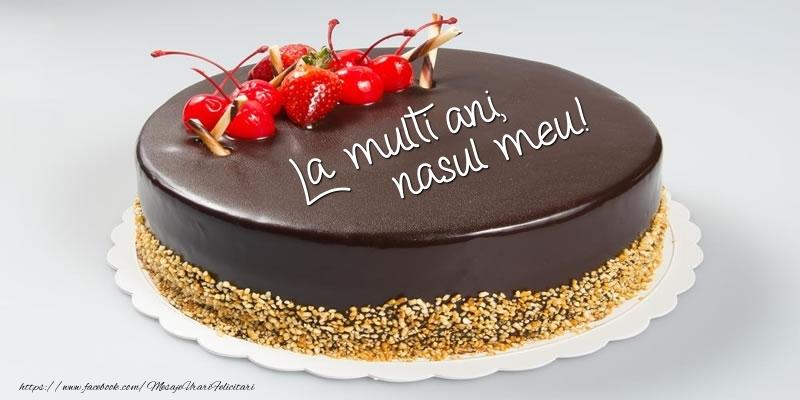 Felicitari de zi de nastere pentru Nas - Tort - La multi ani, nasul meu!