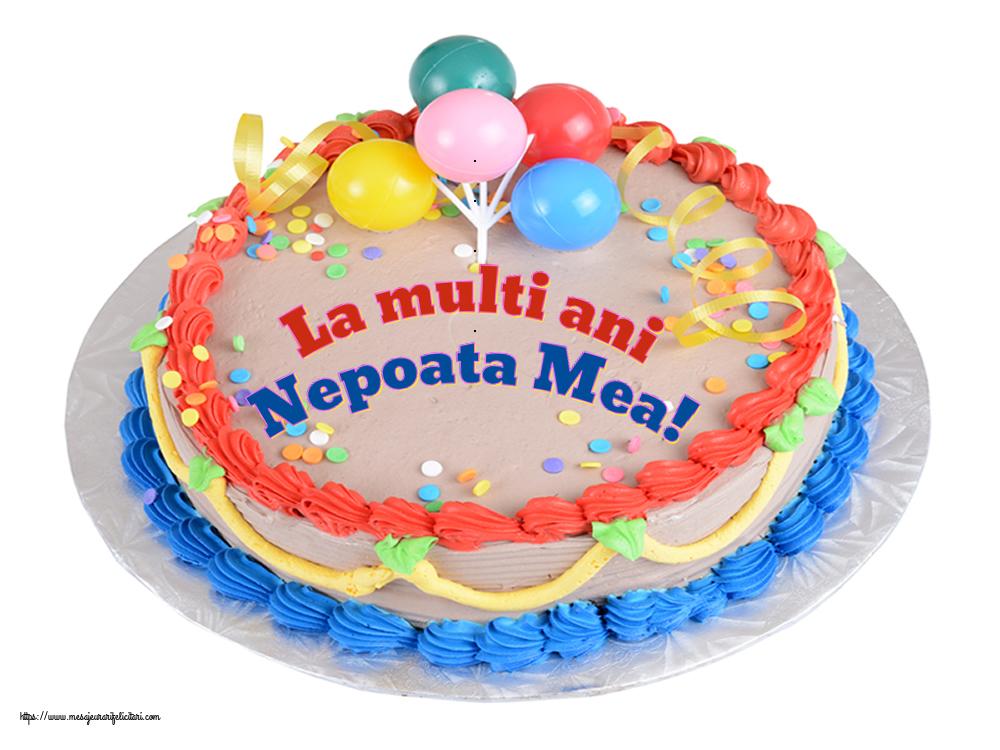 Felicitari de zi de nastere pentru Nepoata - La multi ani nepoata mea!