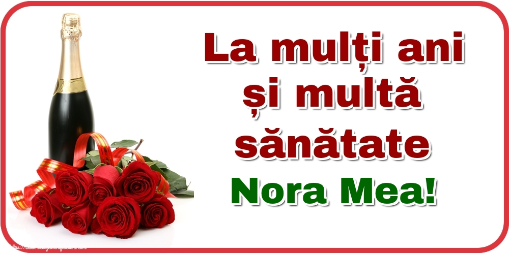 Felicitari de zi de nastere pentru Nora - La mulți ani și multă sănătate nora mea!