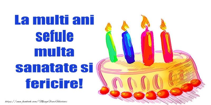 Felicitari de zi de nastere pentru Sef - La mult ani sefule multa sanatate si fericire!