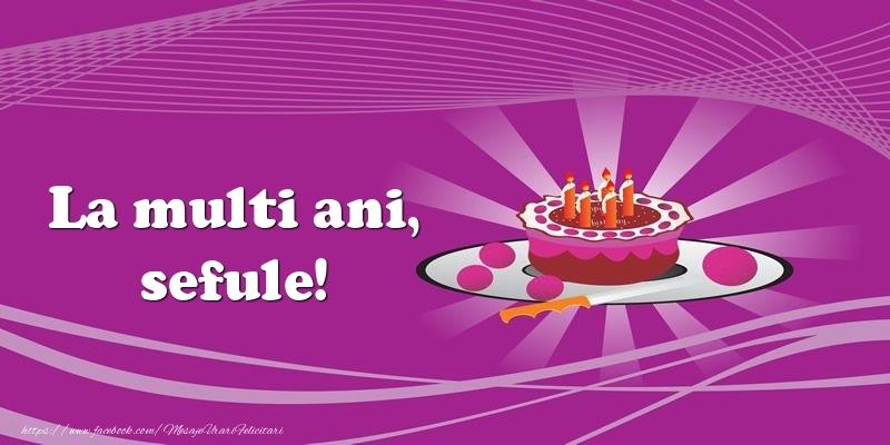 Felicitari de zi de nastere pentru Sef - La multi ani, sefule! Tort