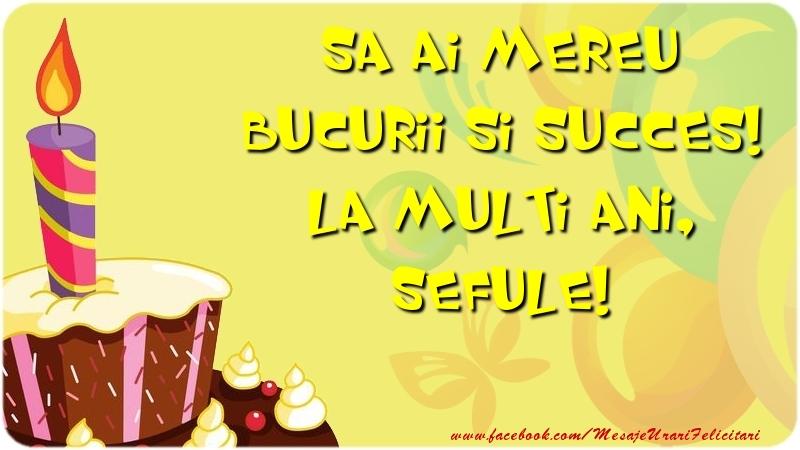 Felicitari de zi de nastere pentru Sef - Sa ai mereu bucurii si succes! La multi ani, sefule