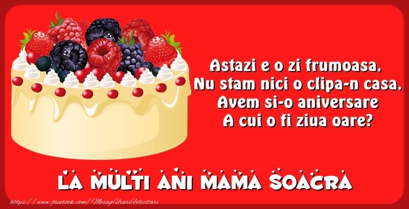 Felicitari de zi de nastere pentru Soacra - La multi ani mama soacra