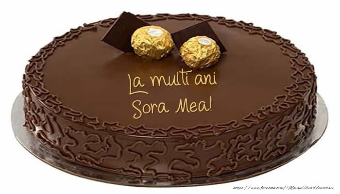 Felicitari de zi de nastere pentru Sora - Tort - La multi ani sora mea!
