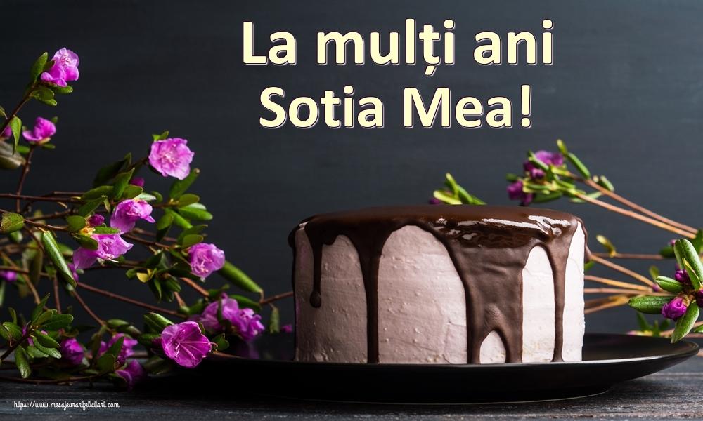 Felicitari de zi de nastere pentru Sotie - La mulți ani sotia mea!
