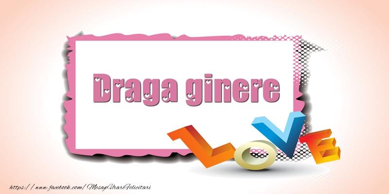 Felicitari Ziua indragostitilor pentru Ginere - Draga ginere Love