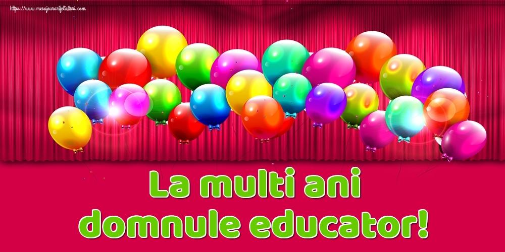 Felicitari de Ziua Numelui pentru Educator - La multi ani domnule educator!