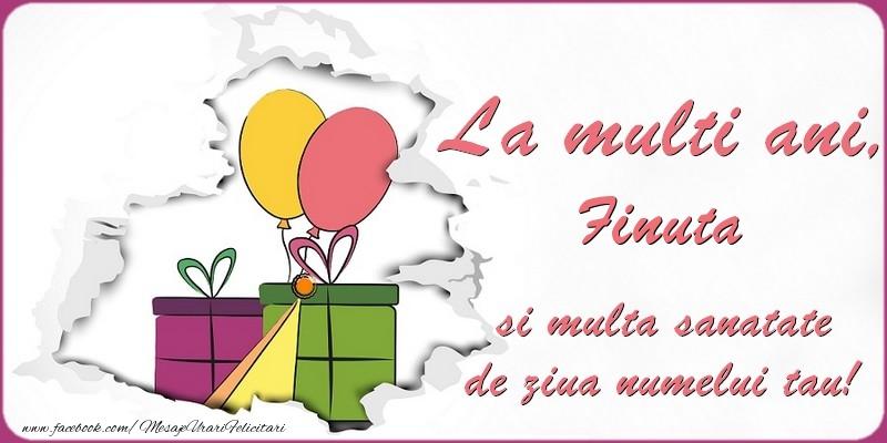 Felicitari de Ziua Numelui pentru Fina - La multi ani, finuta si multa sanatate de ziua numelui tau!