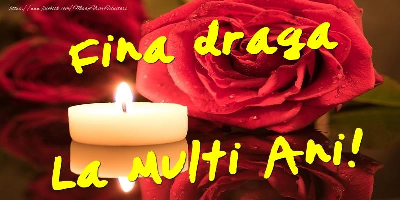 Felicitari de Ziua Numelui pentru Fina - Fina draga La Multi Ani!