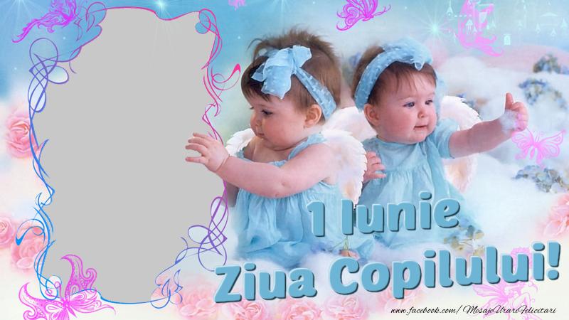 Felicitari personalizate de 1 Iunie - Rana foto pentru copii