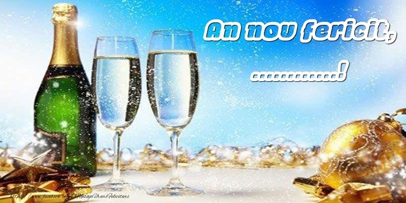 Felicitari personalizate de Anul Nou - An nou fericit, ...!