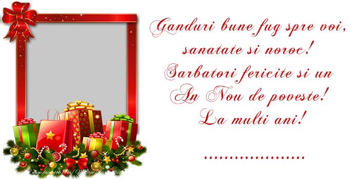 Felicitari personalizate de Anul Nou - Mesajul tau de Anul Nou pentru prieteni