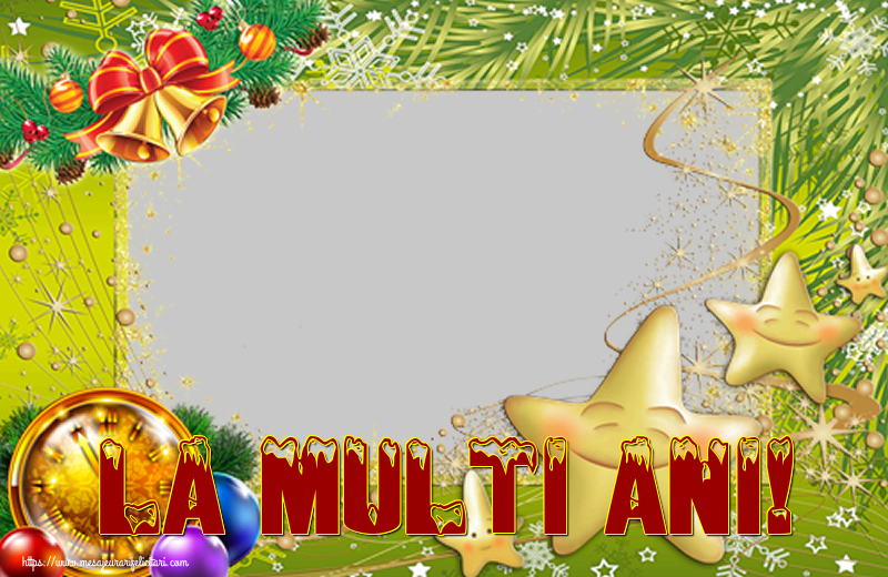 Felicitari personalizate de Anul Nou - La multi ani! - Rama foto de Anul Nou
