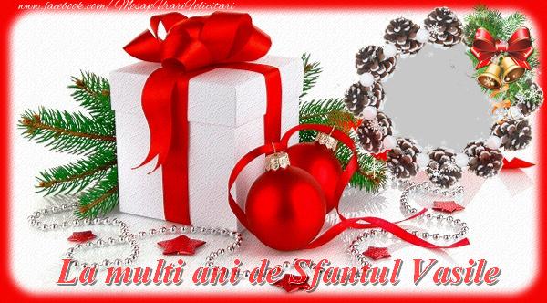 Felicitari personalizate de Anul Nou - La multi ani de Sfantul Vasile