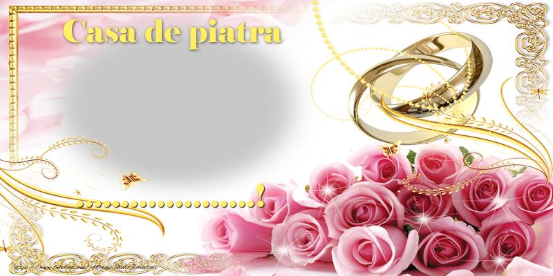 Felicitari personalizate de Casatorie - Casă de piatră ...!