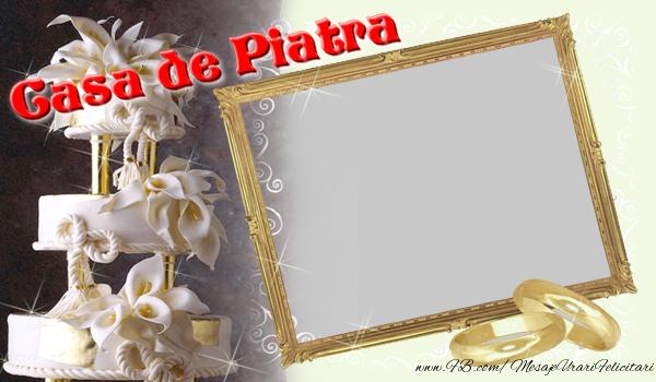 Felicitari personalizate de Casatorie - Casa de piatra