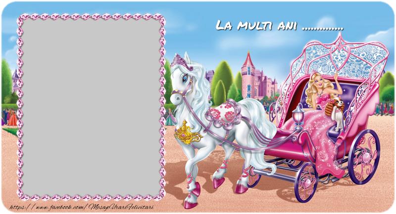 Felicitari personalizate pentru copii - Felicitare cu Barbie. La multi ani ...